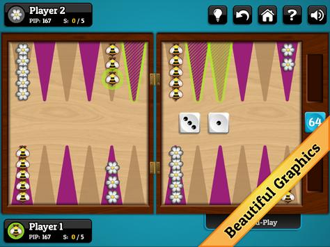 Spring Backgammon apk screenshot
