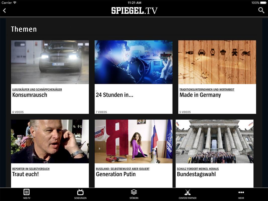 Spiegel tv apk baixar gr tis entretenimento aplicativo for Spiegel tv video