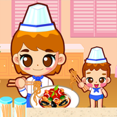 Cook pasta with mom icon