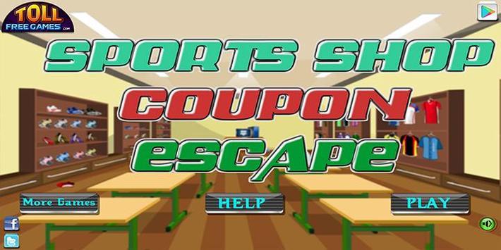 Escape game_sports shop coupon poster