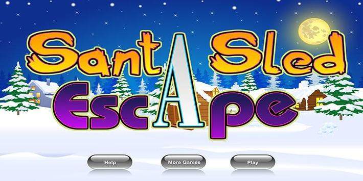 Escape games_santa sled escape poster