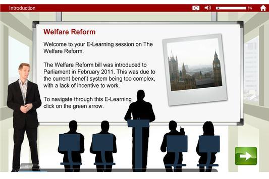 Welfare Reform Act e-Learning screenshot 2