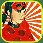 Ladybug clean face girl icon