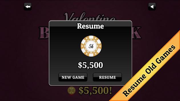 Valentine's Day Blackjack screenshot 4