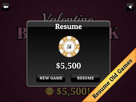 Valentine's Day Blackjack screenshot 9