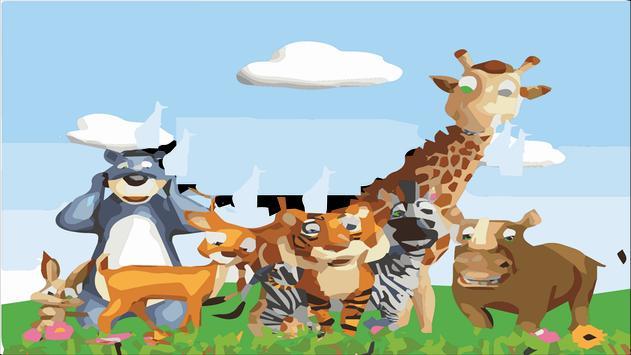 puzzle cartoon animals apk screenshot
