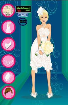 Fashion Girl Wedding Dress up poster