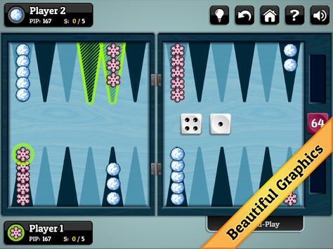 Winter Backgammon screenshot 11