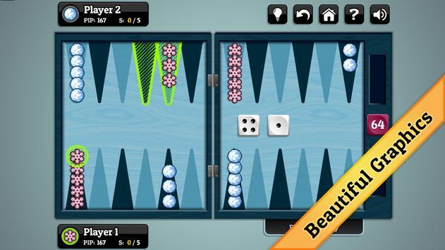 Winter Backgammon screenshot 1