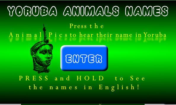 Yoruba Animal Names screenshot 1