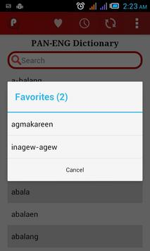 Pangasinan-English Dictionary apk screenshot