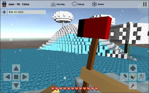 Cubes Craft Winter apk screenshot