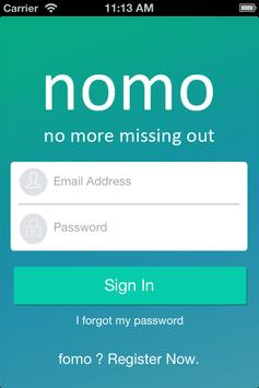 Nomo - No More Missing Out poster