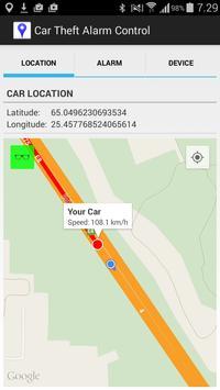 Car Theft Alarm Control apk screenshot