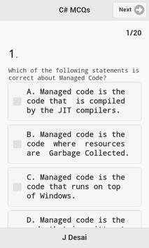 C# Quiz apk screenshot