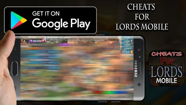 Cheats For Lords Mobile _Prank poster