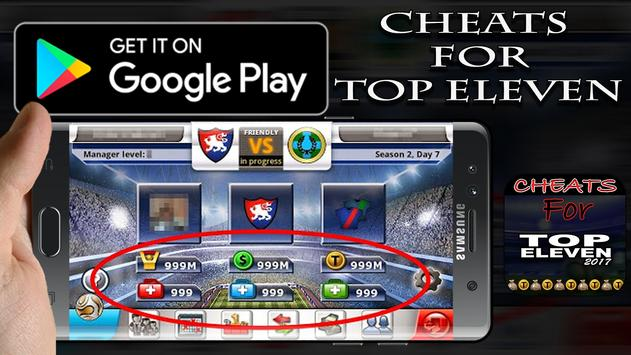 Cheats For Top Eleven Nw Prank apk screenshot