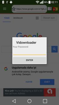 Secret Video Downloader & Player apk screenshot