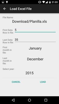 Calendario desde Excel screenshot 3