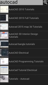 Tutorials for Autocad poster