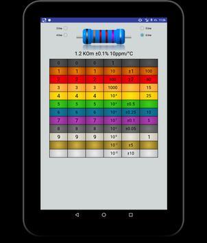 smd resistor code calculator,color resistor apk screenshot