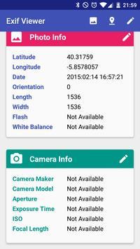 EXIF Viewer: Exif editor GPS apk screenshot