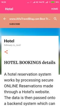 Alfa Travel Blog apk screenshot