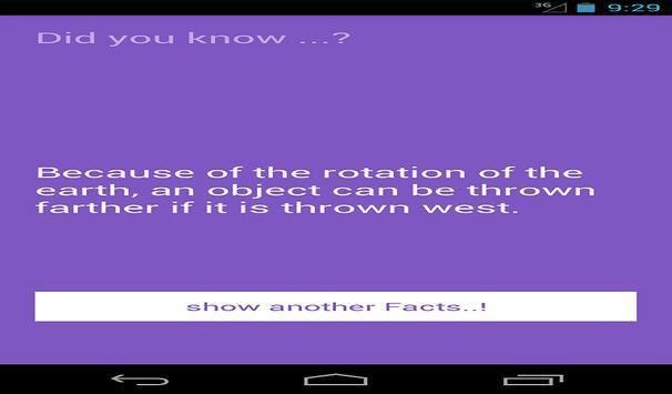 Facts apk screenshot