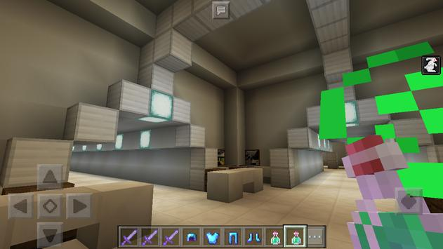 Aliens escape Map for Minecraft poster