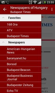 Hungary Newspapers poster