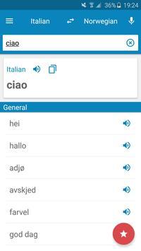 Italian-Norwegian Dictionary poster