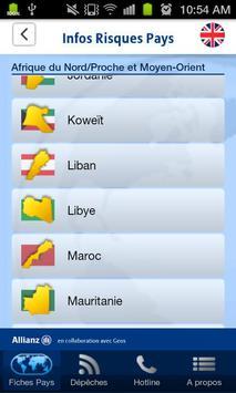 Infos Risques Pays screenshot 1