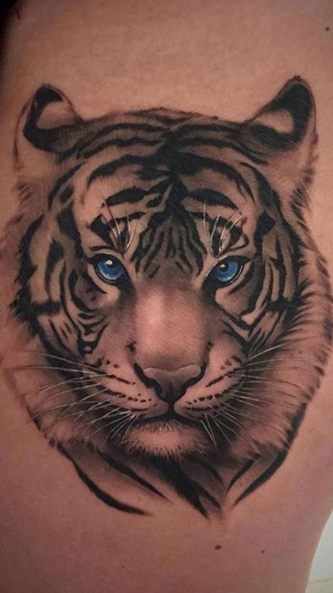 Simple Tiger Tattoos: Tiger Tattoo Designs For Android