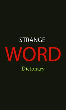 Strange Word Dictionary poster
