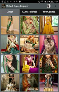 Mehndi Dress Designs 2018 poster