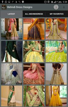 Mehndi Dress Designs 2018 screenshot 1