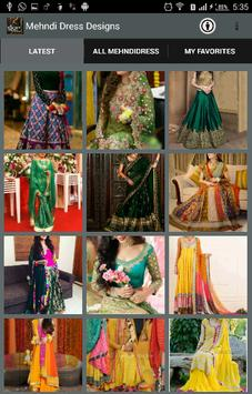 Mehndi Dress Designs 2018 screenshot 2