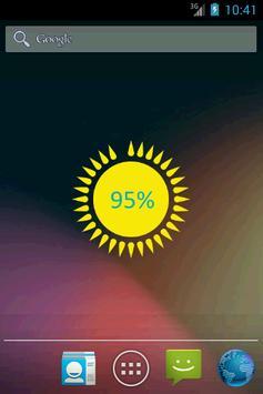 Battery Sun Widget poster