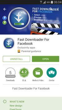 Fast Downloader For Facebook apk screenshot
