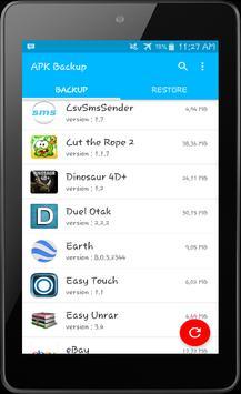 APK Backup Install apk screenshot
