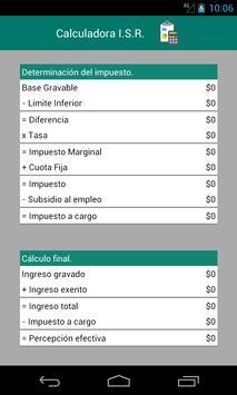 Calculadora I.S.R. screenshot 1