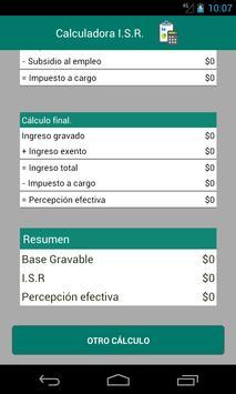 Calculadora I.S.R. screenshot 2