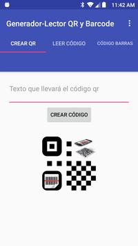 QR and Barcode Generator-Reader screenshot 1