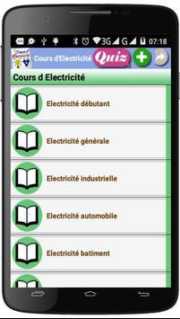 Cours d'Electricité poster