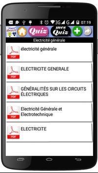 Cours d'Electricité screenshot 1