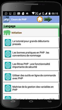Cours de PHP poster