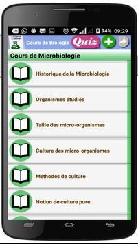 Cours de Biologie poster