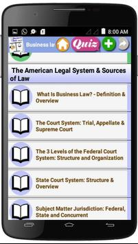 Business Law  Courses screenshot 1