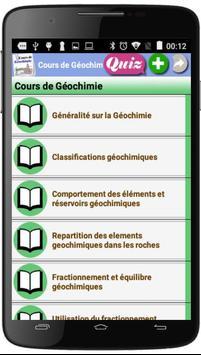 Cours de Géochimie poster
