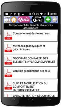 Cours de Géochimie apk screenshot